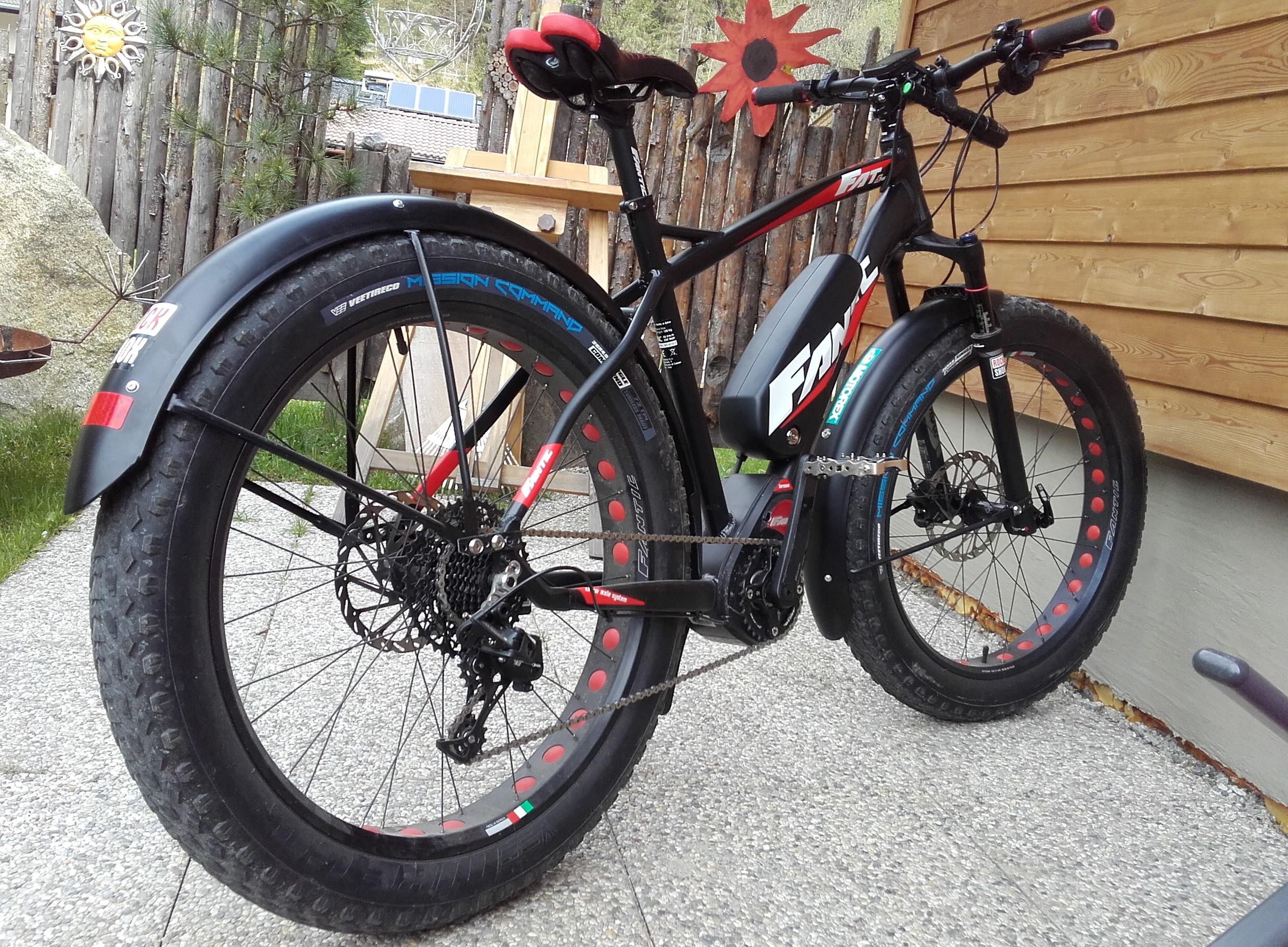 20 pulgadas Fat bike acanaladas negro mate 123 mm de ancho