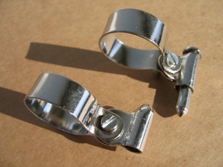 Spitzpumpenhalter für Luftpumpe, verchromt