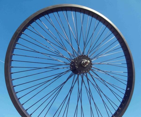 24 zoll Vorderrad Laufrad 72 Speichen schwarz