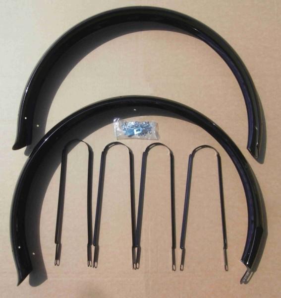 Extra lange Schutzbleche Ducktail 26 Zoll schwarz