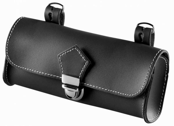 Satteltasche Echt Leder schwarz