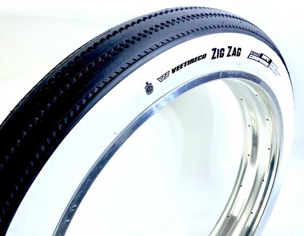 Reifen Fat Bike Classic Cycle Zig Zag 26 x 4.0 - 97/102 - 559 Weißwand