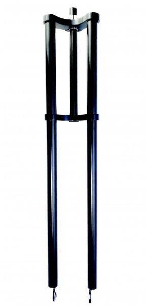 Doppelbrückengabel, langer Schaft, offset 840 mm, schwarz für 20-28 Zoll Reifen