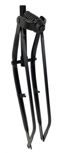 Springergabel mit Cantilever-V-Brake-Aufnahmen schwarz