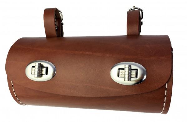 Satteltasche in Tonnenform hellbraun