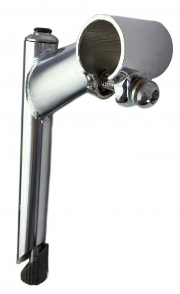 Vorbau, 25,4 - 22,2, 80mm, Stahl-Schaft 1-Fach Schraubenlenkerklemmung verchromt Humpert Ergotec