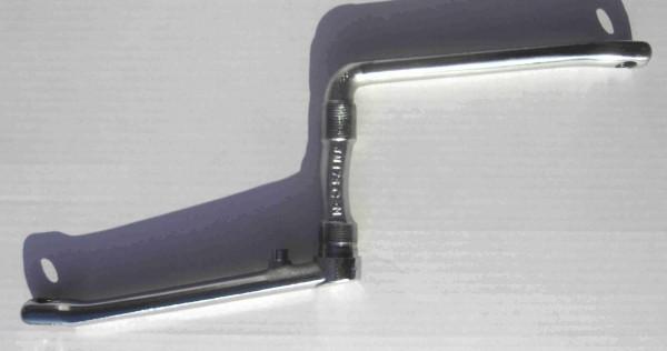 One piece Crank, Kuno Kante 175 mm verchromt Kurbelgarnitur aus einem Stück