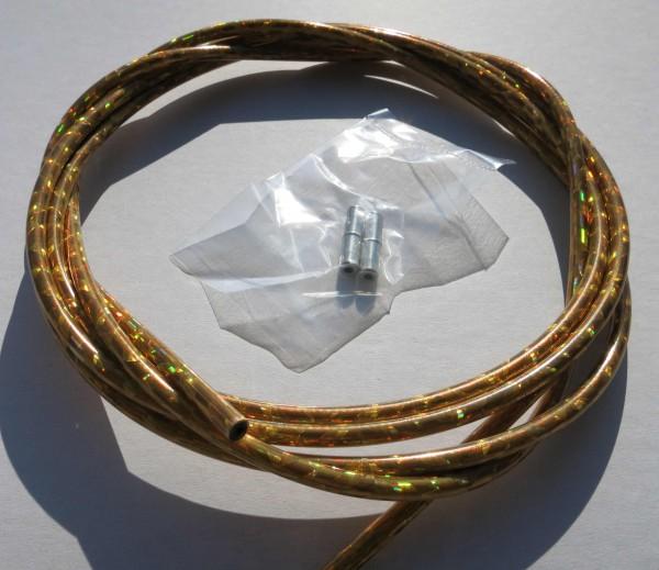 Außenzug Bowdenzug Glitter gold 2,50 m 5 mm