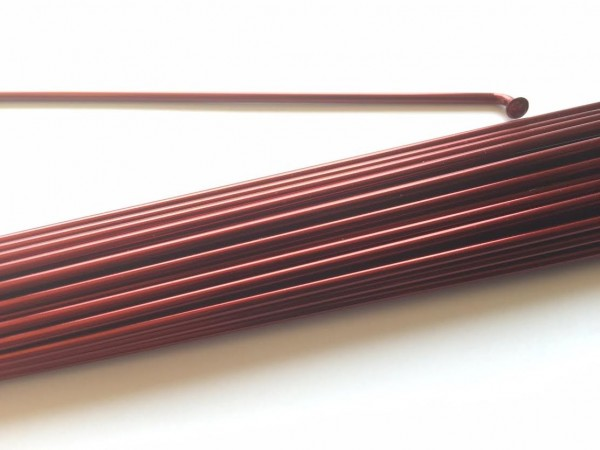 Speiche 2.0 x 266 burgunder rot metallic