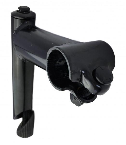 Vorbau, 25,4 - 25,4 100mm, Stahl-Schaft 1-Fach Schraubenlenkerklemmung Schwarz Humpert Ergotec