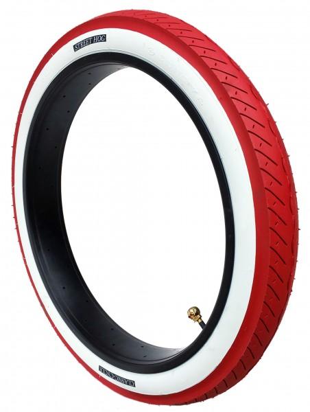 Roter Reifen Street Hog 24 x 3.0 weißwand