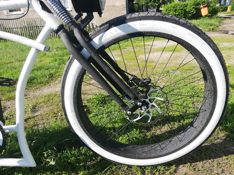Classic Cycle Springergabel Abraham Linkage Monark Disc 1 1//8 Zoll Schaft