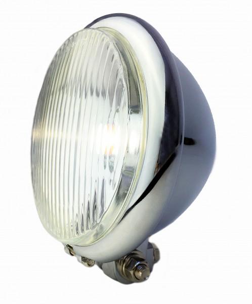 Old Bates Frontlampe LED, 15cm, verchromt Batterie
