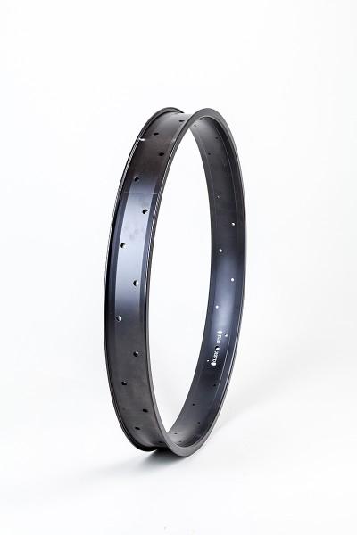 Alufelge 24 Zoll 67 mm, schwarz, doppelwandig