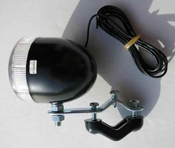 Kleines Frontlicht Big Bullet schwarz 6V 3W