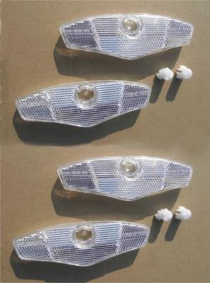 Speichenreflektoren weiß 4 Stück