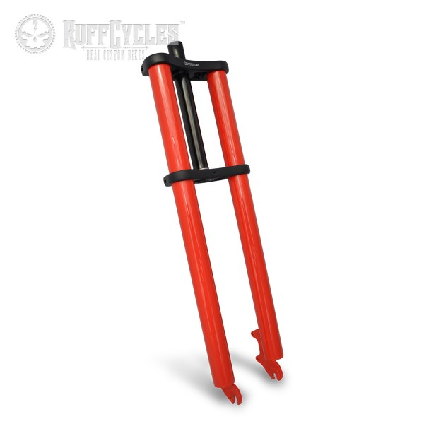 Ruff Doppelbrückengabel, 600 mm, rot für 26 Zoll-Reifen