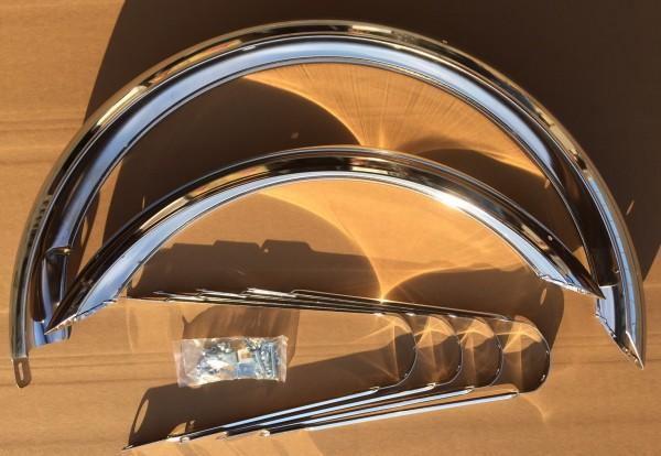 Schutzbleche verchromt 26 Zoll 100 mm breit lang chrom