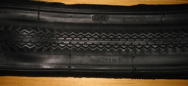 Wulstreifen 28 x 1 1/2 schwarz
