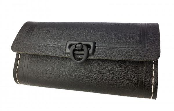 Werkzeugsatteltasche klein schwarz 1 schwarze Schließe