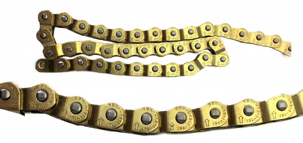 Halflink Kette 1/2 x 1/8, Gold