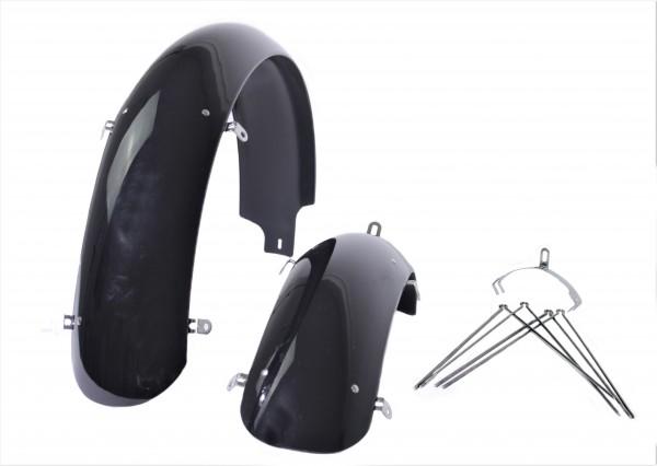 Fat Bike Kunststoffschutzbleche schwarz 26x4 - 4.8 124 mm breit