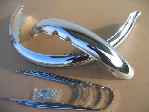 Schutzbleche Ducktail 26 Zoll 100 mm breit verchromt