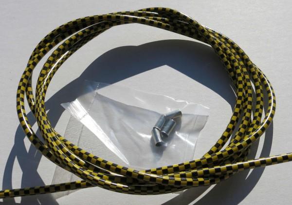 Außenzug Bowdenzug Checkered Flag schwarz gelb 2,50 m 5 mm