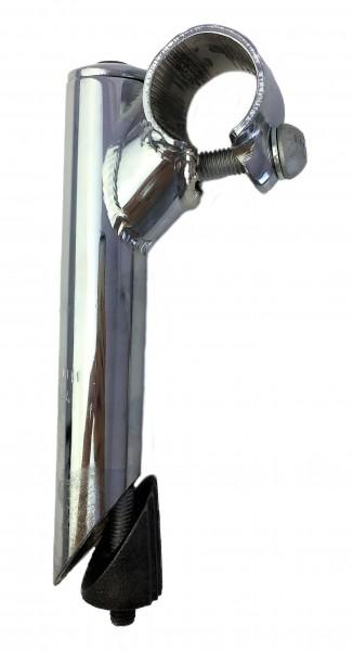Vorbau, 40mm, Stahl-Schaft mit 1-Fach Schraubenlenkerklemmung verchromt Humpert Ergotec