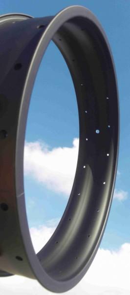 Alufelge DHL 100, 20 Zoll, 100 mm breit, mattschwarz
