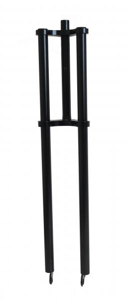 Doppelbrückengabel, 840 mm, seidenmattschwarz für 20-28 Zoll-Räder