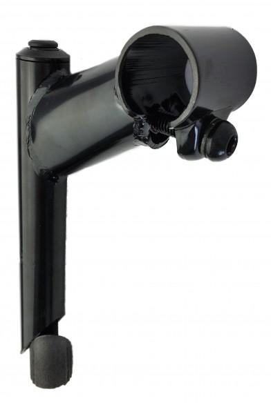Vorbau, 25,4 - 22,2, 80mm, Stahl-Schaft 1-Fach Schraubenlenkerklemmung schwarz Humpert Ergotec