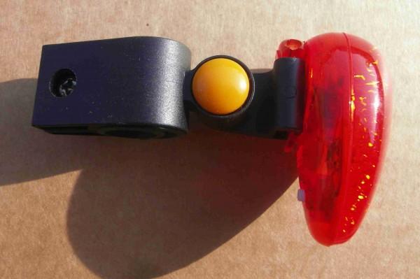 Rücklicht schwarz schwenkbar mit Clip