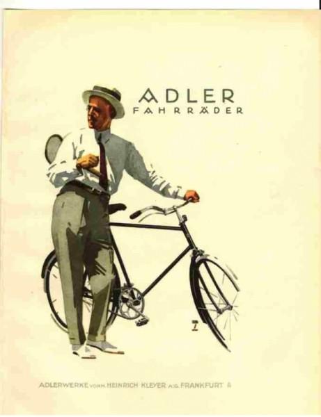 Adler Fahrrad-Werke Postkarte