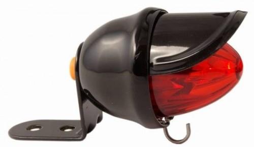 Rücklicht Baby Bee LED rot schwarzes Gehäuse