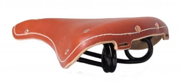 Congnacbrauner Vintage Leder Sattel Oxford Club