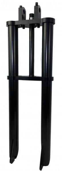 Extra breite und dicke Doppelbrückengabel, 700 mm, 50 mm, schwarz für bis zu 26