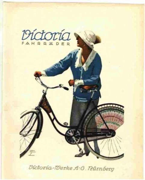 Victoria Fahrrad-Werke Postkarte
