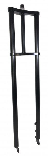 Extra breite Doppelbrückengabel, 900 mm, schwarz für 20-28 Zollreifen