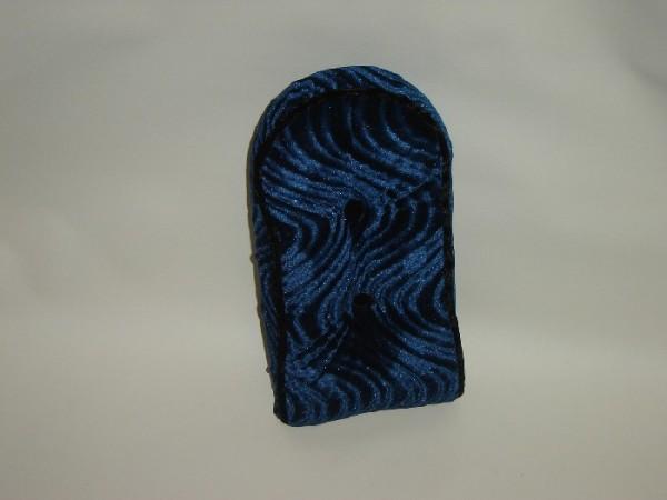 Sissybarpad Velours blau Kissen für die Rückenlehne