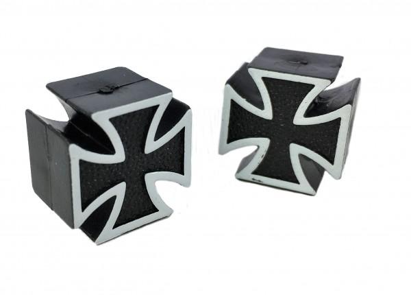 Ventilkappen Malteser / Iron Cross Toller Custom-Look