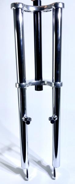 Doppelbrückengabel, 625 mm, verchromt für 26 Zoll-Reifen