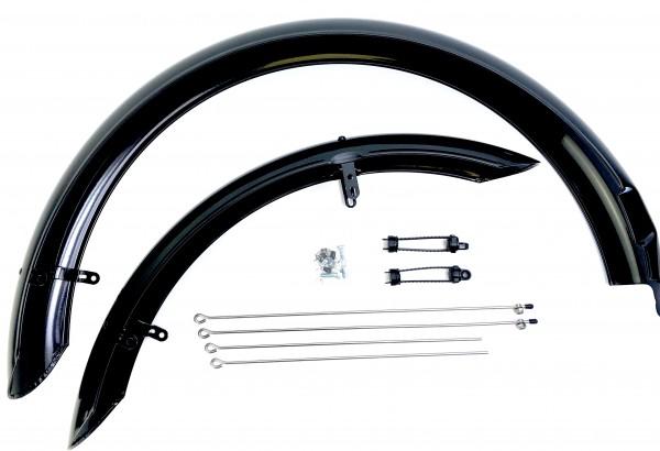 Greaser spezial Schutzbleche lang schwarz 26 Zoll 100 mm breit lang