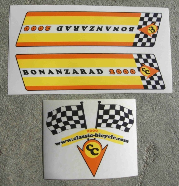 Bonanzarad 2000 original Aufkleberset