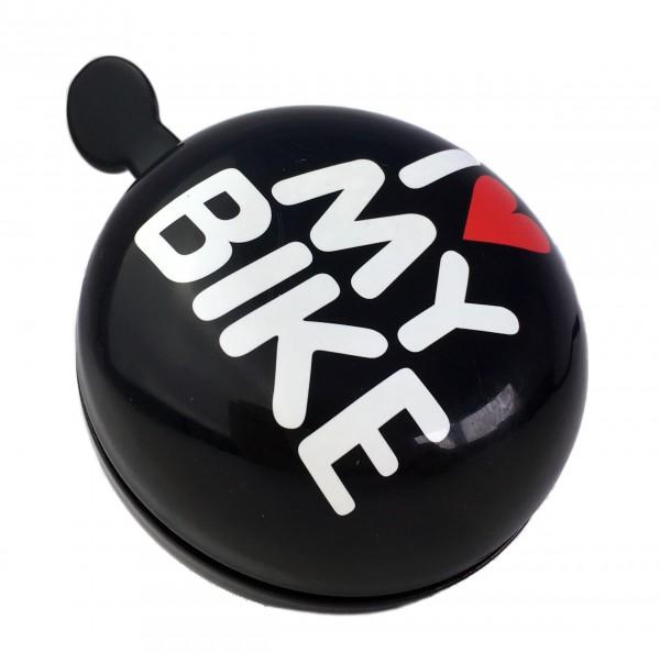 Ding Dong Glocke LOVE schwarz 80mm