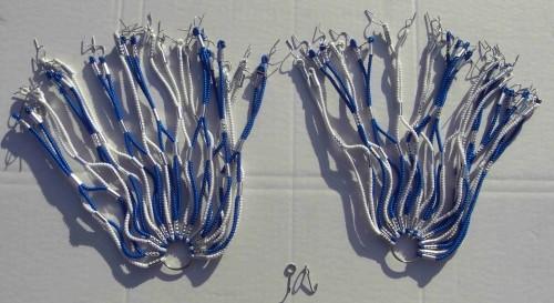 Kleidernetz Rockschutz Gummi, blau weiß, 26-28