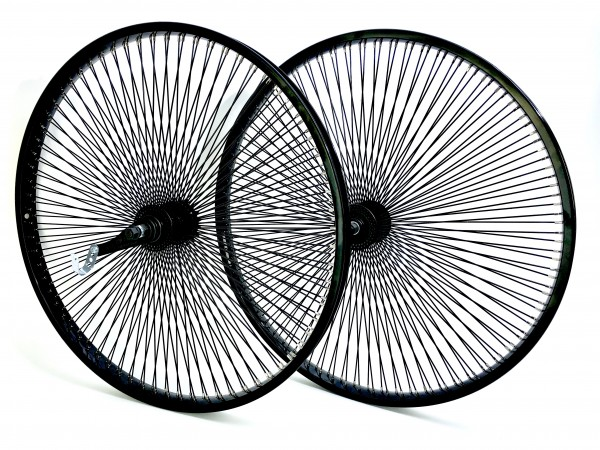 Laufradsatz 26 schwarz 140 Speichen, VR und HR