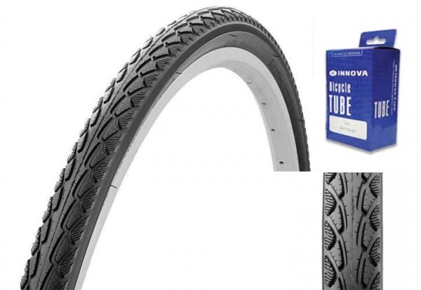 Reifen für Trekking oder City Bike 28 x 1.75 mit Schlauch, mit Pannenschutz