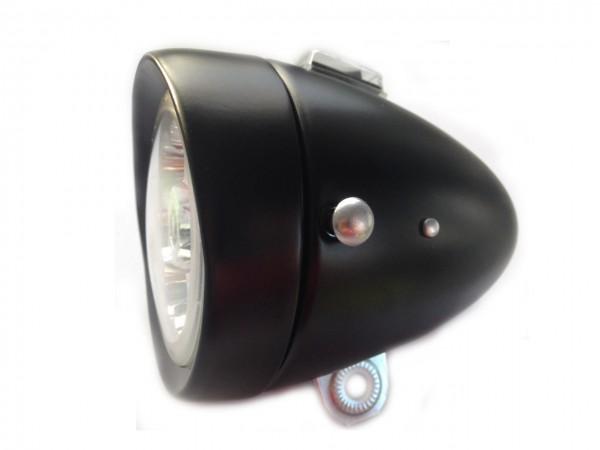 6 LED Frontlampe Batterie 80 mm schwarz