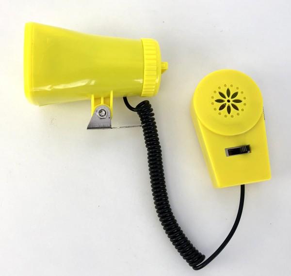 Kojak Batterie-Sirene, mit Micro, drei verschiedene Sirenen gelb